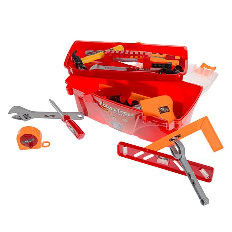 40-Piece Toy Tool Box Set-Pretend Play Construction Handyman Set by...