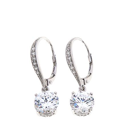 4.16ctw Absolute™ Round Leverback Dangle Earrings
