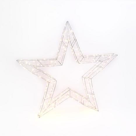 44-Inch High Electric Open Wire Star Ornament with Outdoor Adapter