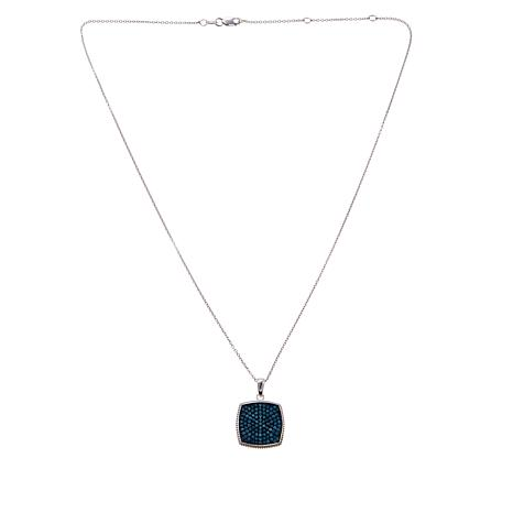 .495ctw Colored Diamond Medallion Pendant with Chain