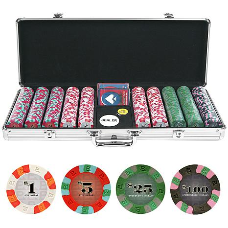 500 NexGen Pro Classic Poker Chips with Aluminum Case