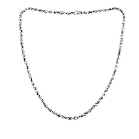 "5mm Stainless Steel Rope Chain 24"" Necklace"