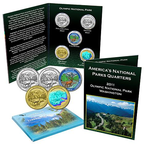 5pc 2011 Olympic National Park Quarters - Single Ship