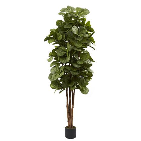 faux 6 Ft. Fiddle Leaf Fig Silk Tree. How to decorate or style your entry way.