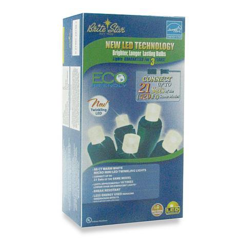 60-LED Micro Mini Twinkling Light Set - Warm White