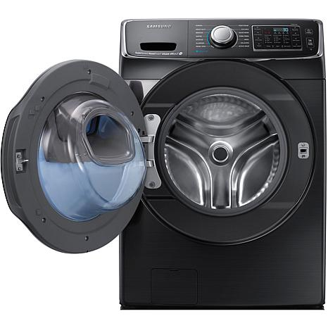 7500 Series 5.0 Cu. Ft. Front Load Washer- Black Stainless Steel
