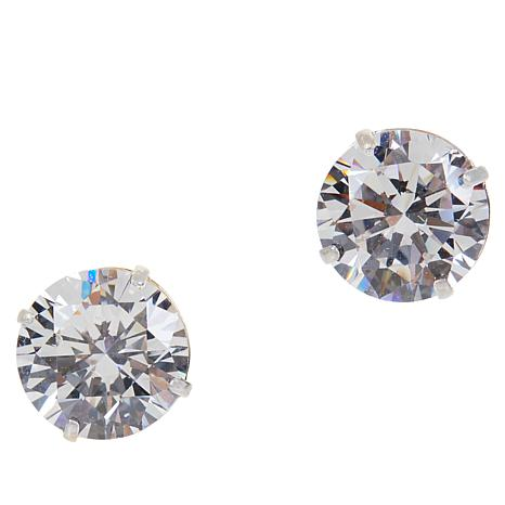 Absolute™ 14K Gold 5.74ctw Cubic Zirconia Round Stud Earrings
