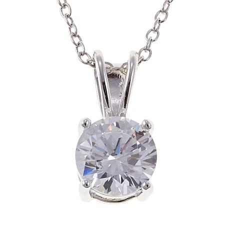 Absolute™ 1.5ctw CZ Sterling Round Solitaire Pendant