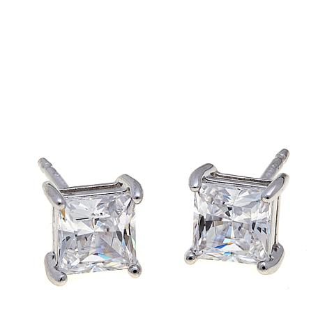 Absolute™ 1ctw Cubic Zirconia Princess Stud Earrings