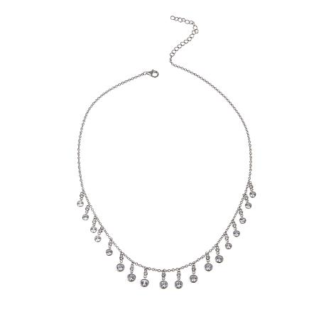 """Absolute™ 2.54ctw CZ Round Station Multi-Dangle 16"""" Necklace"""