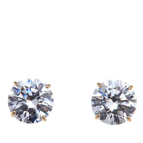 Absolute™ 3ctw Cubic Zirconia 14K Stud Earrings