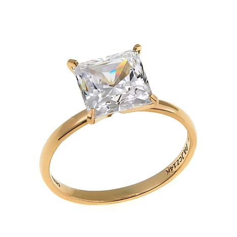 Absolute™ 3ctw CZ 14K Princess Solitaire Ring