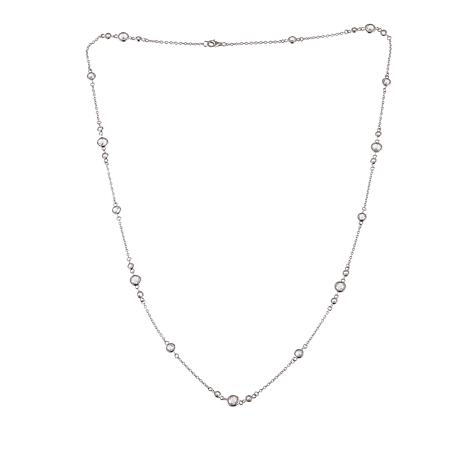 """Absolute™ 6.56ctw Round CZ Mixed Station 24"""" Necklace"""