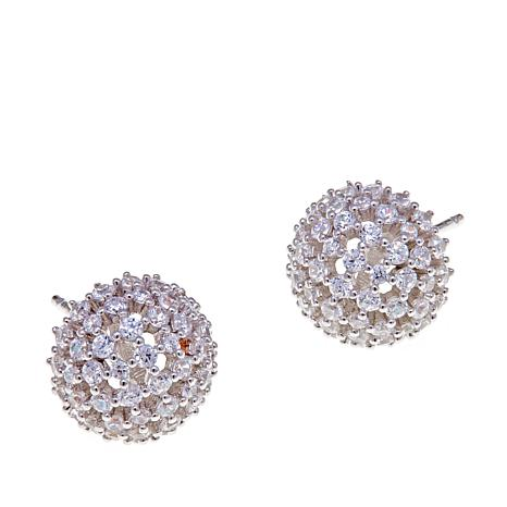 Absolute™ .66ctw CZ Round Stone Cluster Earrings