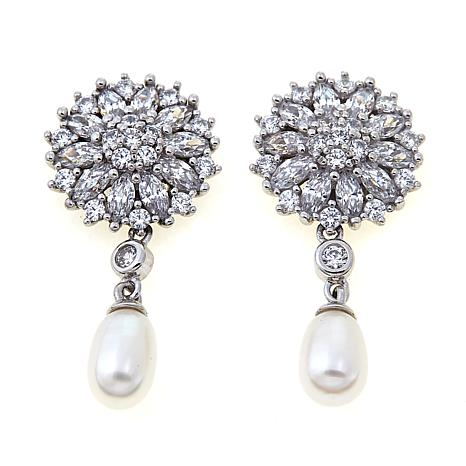 Absolute™ Cubic Zirconia & Cultured Pearl Earrings