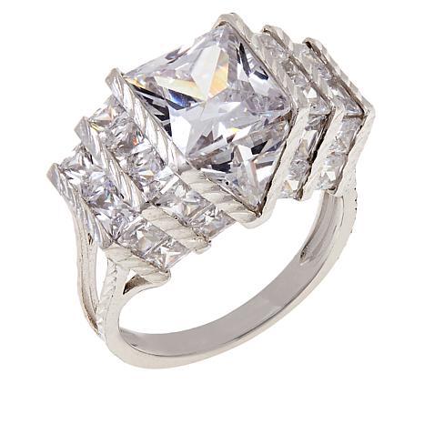 Absolute™ Cubic Zirconia Quadrillion-Cut Statement Ring