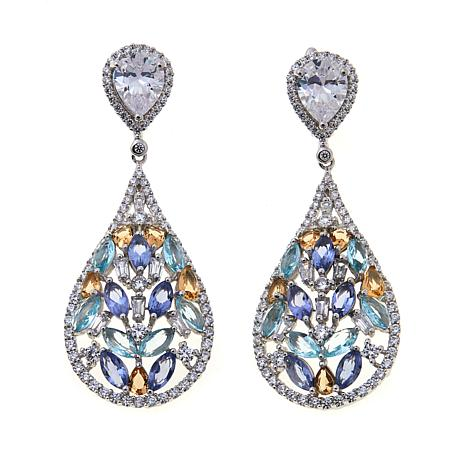 Absolute™ CZ and Simulated Gem Drop Earrings