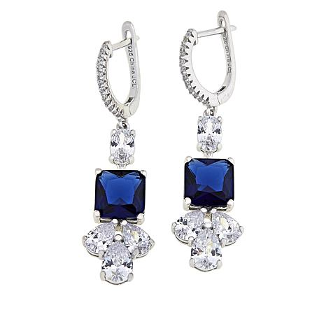 Absolute Simulated Shire And Cubic Zirconia Dangle Earrings