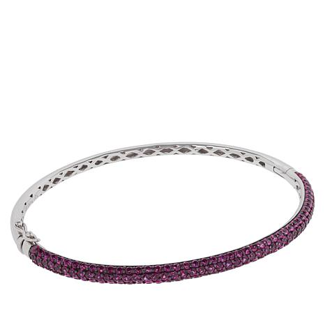 Absolute™ Sterling Silver Cubic Zirconia Pavé Bangle