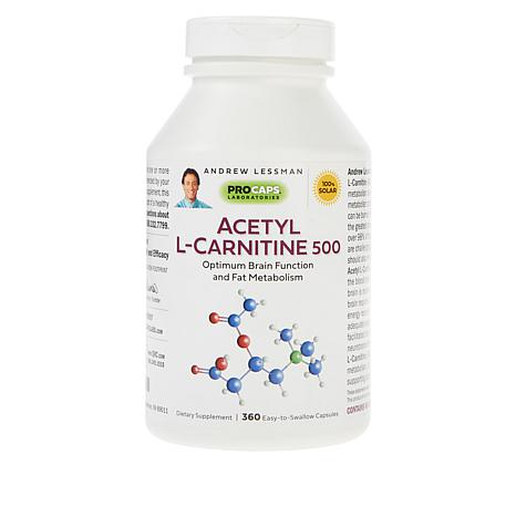 Acetyl L-Carnitine-500 - 360 Capsules