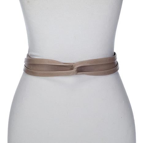 ADA Collection Argentinean Leather Skinny Wrap Belt