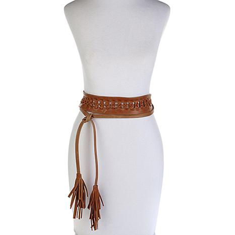 ADA Collection Ava Knotted Leather Wrap Belt