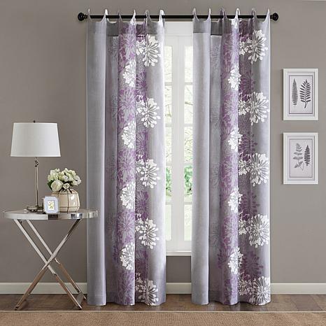 Adria Window Panel - Purple/Gray