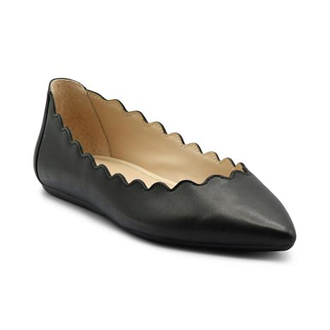 Adrienne Vittadini Leather or Suede Fox Flats