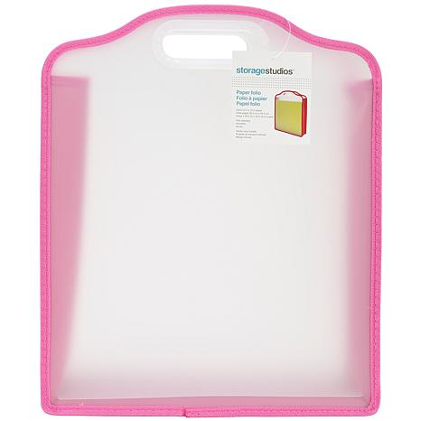 Advantus Storage Studios Paper/Folio Case - Pink–Green