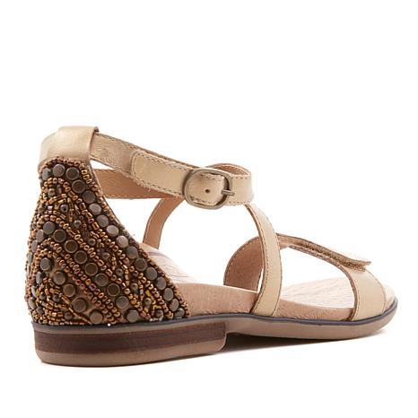 59e15fee57e1 Aetrex® Brenda Beaded Heel Leather Sandal with Built-In Orthotics - 8649695