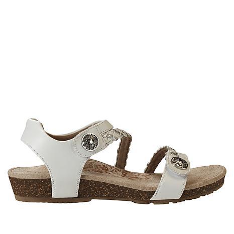 Aetrex® Jillian Braided Sandal with Lynco™ Orthotics