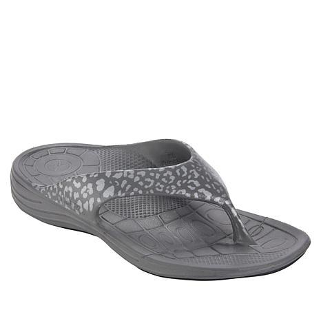 Aetrex® Leopard-Print Flip Flop