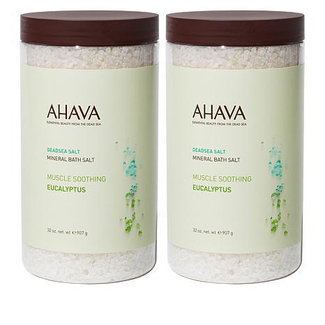 AHAVA Deadsea Mineral Bath Salt Duo - Eucalyptus