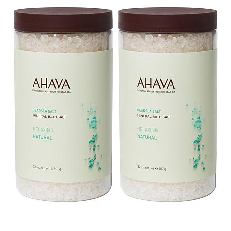 AHAVA Deadsea Mineral Bath Salt Duo - Natural