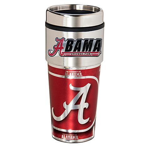 Alabama Crimson Tide Travel Tumbler w/ Metallic Graphics and Team Logo
