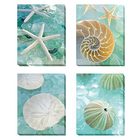 "Alan Blaustein  ""Seaglass""  4pc Giclee Wall Art -Medium"