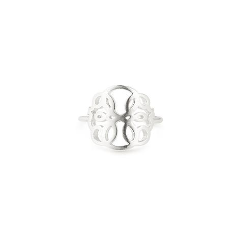 """Alex and Ani Sterling Silver """"Path of Life"""" Adjustable Statement Ring"""