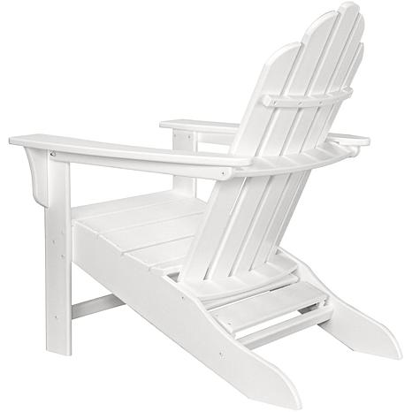 Captivating All Weather Contoured Adirondack Chair With Hideaway Ottoman   10073582 |  HSN