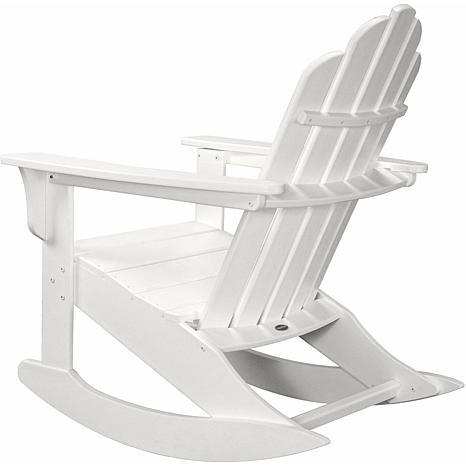 allweather adirondack rocking chair white
