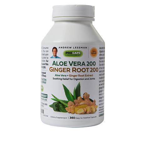 Aloe Vera 200 Ginger Root 200 - 360 Capsules