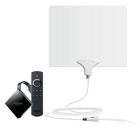 Amazon Fire TV 4K UHD HDR Media Streamer w/Mohu TV Antenna and Voucher