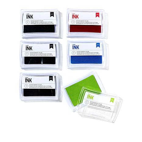 """American Crafts 2"""" x 3"""" Ink Pads 6-pack"""