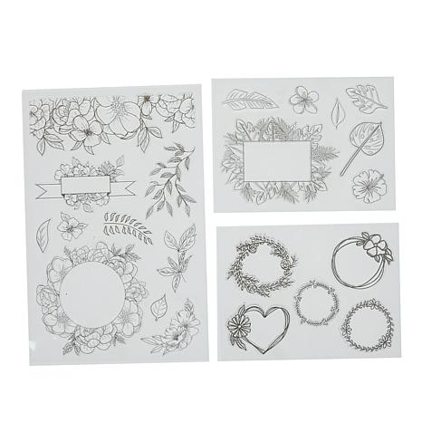 American Crafts Kelly Creates Floral Stamp Set