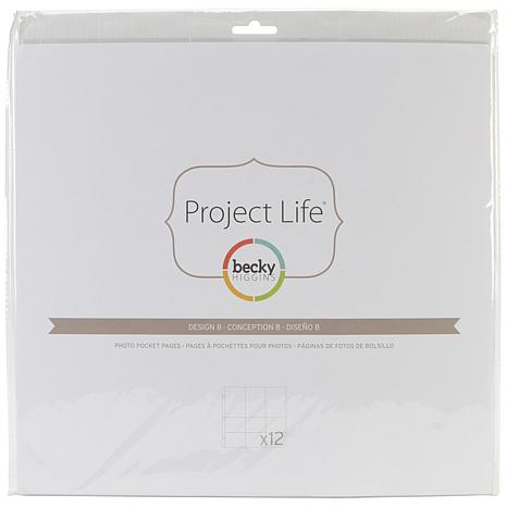 American Crafts Project Life Photo Pages 12pk - A