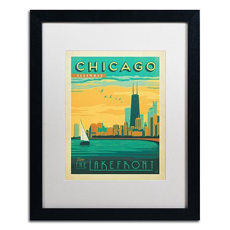 "Anderson Design Group ""Chicago II"" Matted Framed Art"
