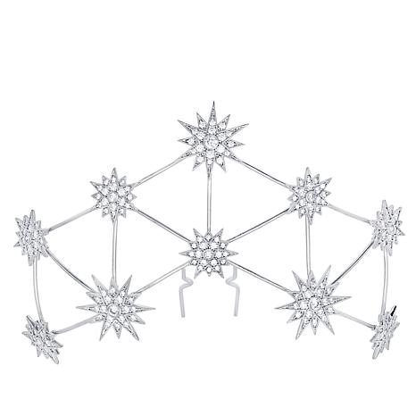 Andrew Prince 7.37ctw CZ Constellation Hair Pin