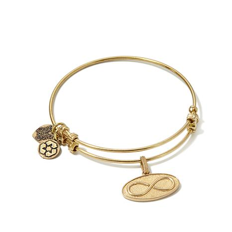 "Angelica Infinity Symbol 7"" Slide-Clasp Bangle Bracelet"
