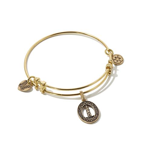 Angelica Lighthouse Charm Slide-Clasp  Bangle Bracelet