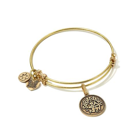 Angelica Sagittarius Charm Slide-Clasp Bangle Bracelet