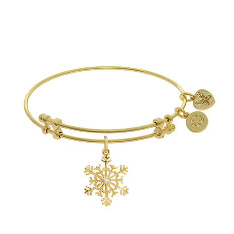 Angelica Snowflake Dangle Wire Expansion Bracelet
